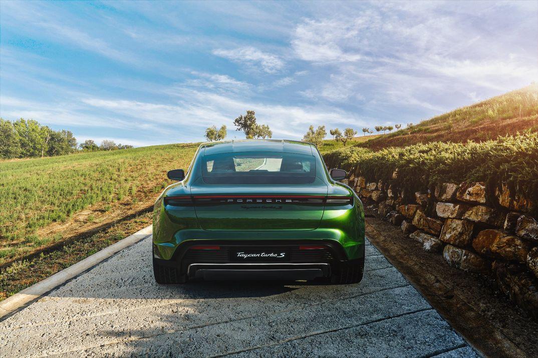 Taycan goes green