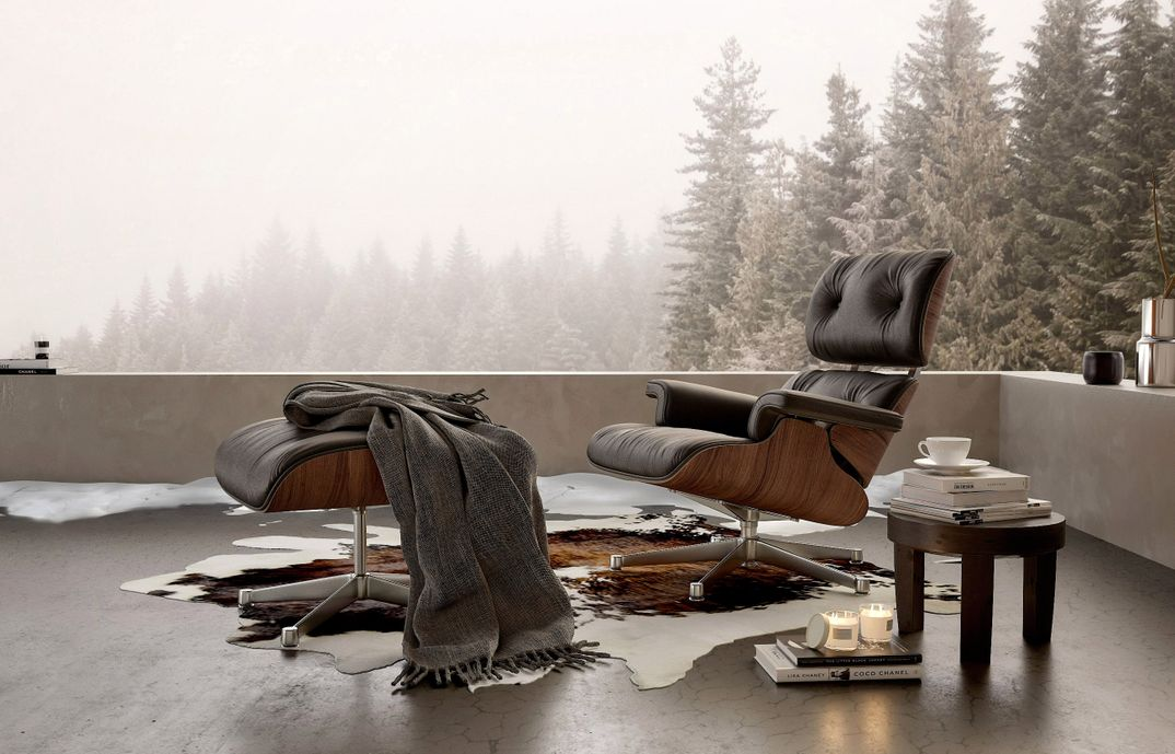 Vitra Lounge Chair render Corona