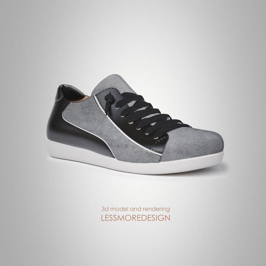 3d modeling and rendering junior sneaker