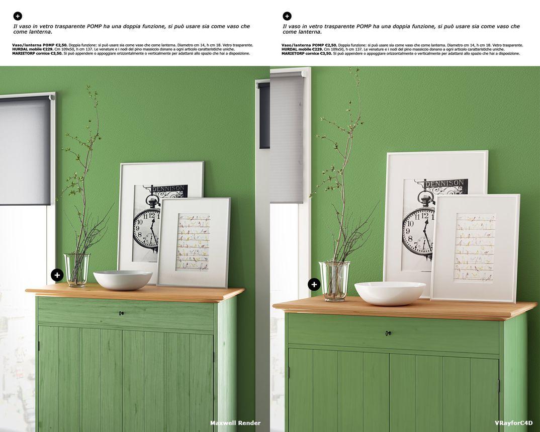 Ikea scene: Vrayforc4d vs Maxwell Render