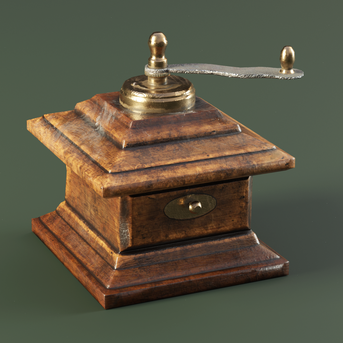 Mini Pepper Grinder lowpoly