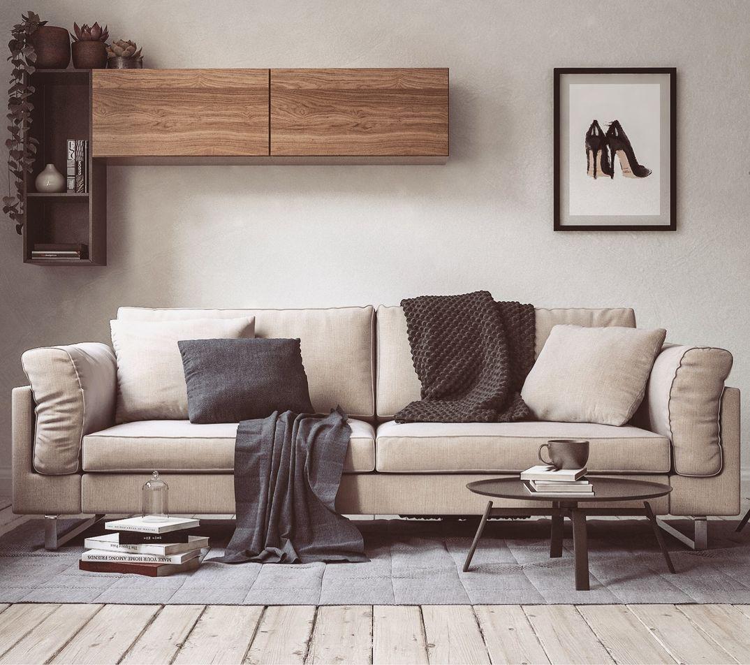 Boconcept sofa render Vray Next
