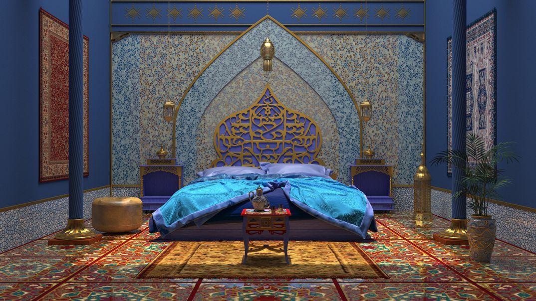 dormitorio estilo marroquí