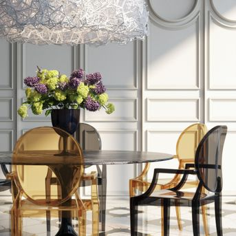 Dining with ghost chair