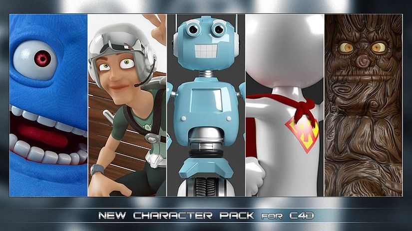 CharactersPack: a new pack of completely rigged characters for Cinema 4D