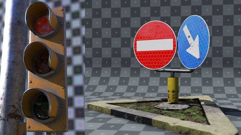 Oggetti Stradali 3D da scaricare gratuitamente