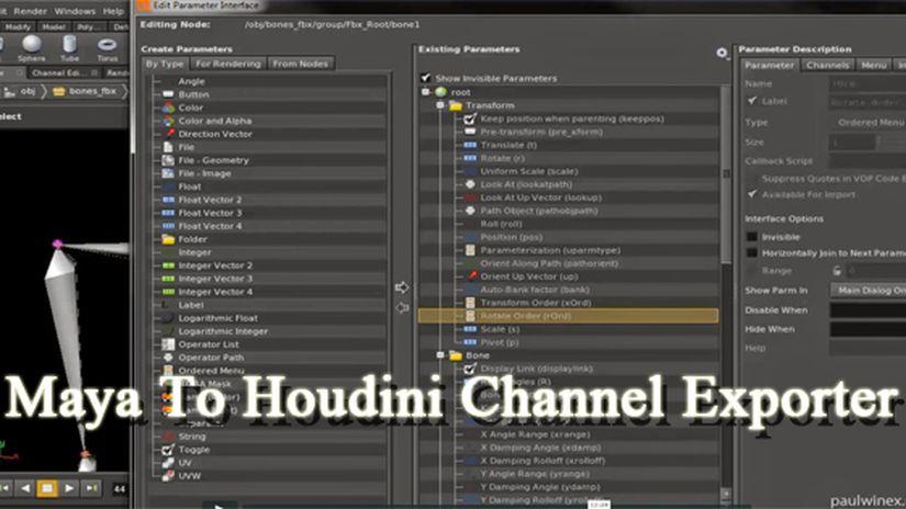 Maya To Houdini Channel Exporter
