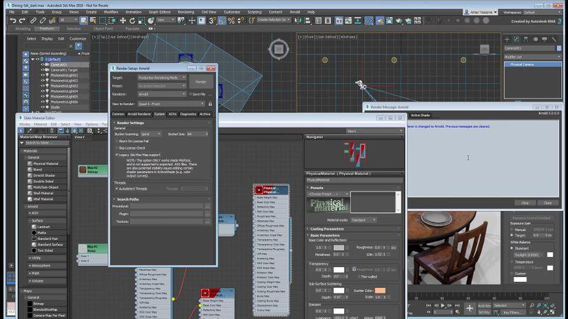 Arnold Render per 3ds Max: nuova serie di tutorial su Area