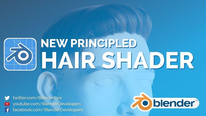 Blender 2.8: nuovo principled hair shader