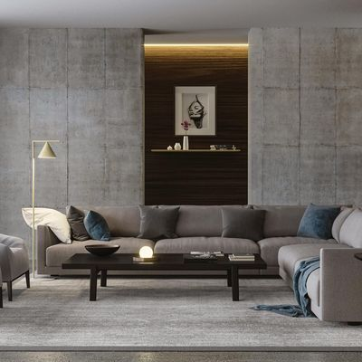 Poliform Bristol sofa scene render Corona