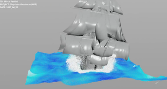 Houdini RnD: Ship into the storm - wip