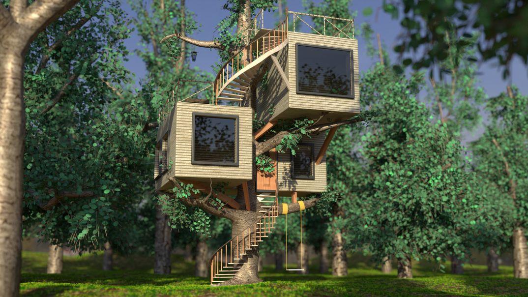 Casa sull 39 albero stile moderno andrea di domenico - Casa sull albero minecraft ...