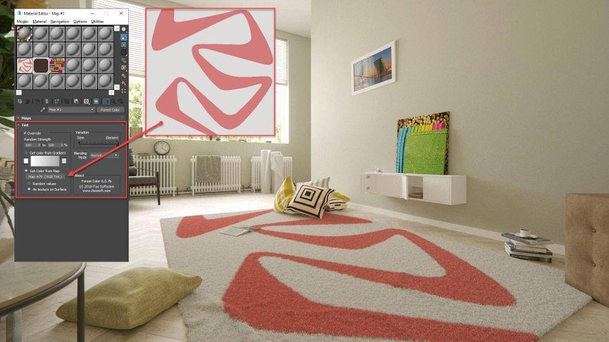 Creare tappeti e pavimenti con Forest Pack e Raiclone