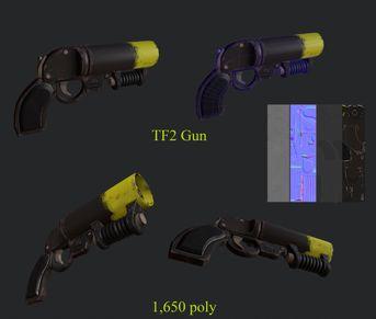 Gun replica TF2 (low poly)