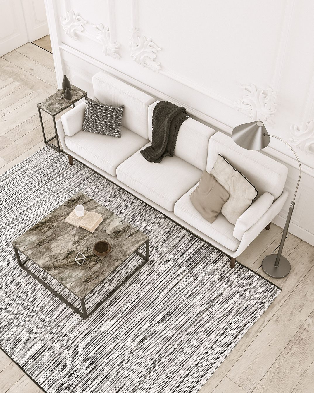 Composition model sofa render vray