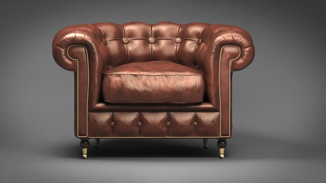 Poltrona chesterfield 3d xsippo for Poltrona 3d
