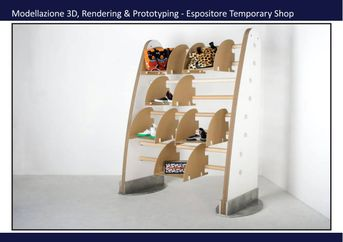 espostitore per temporary shop