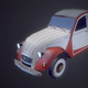 Citroen 2CV - Low poly
