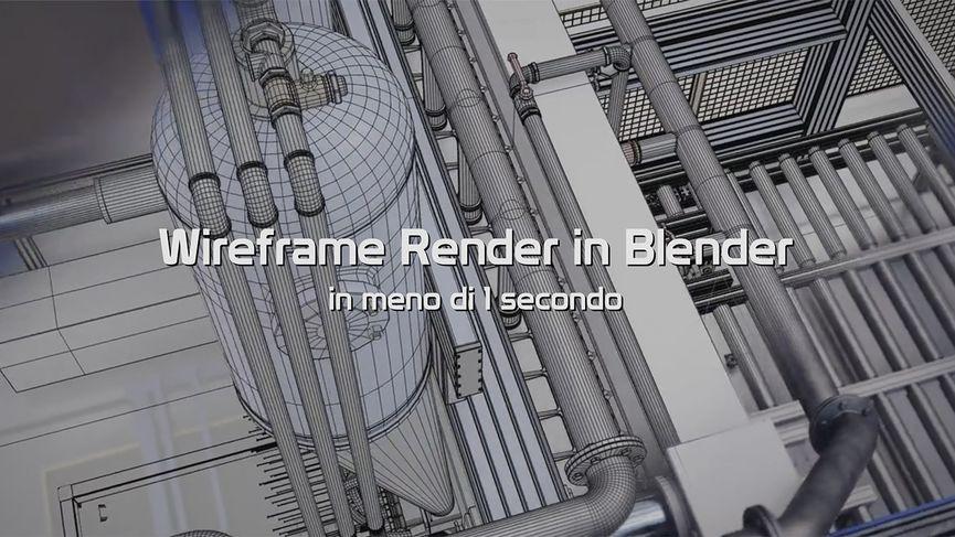 Wireframe render in Blender in meno di 1 secondo