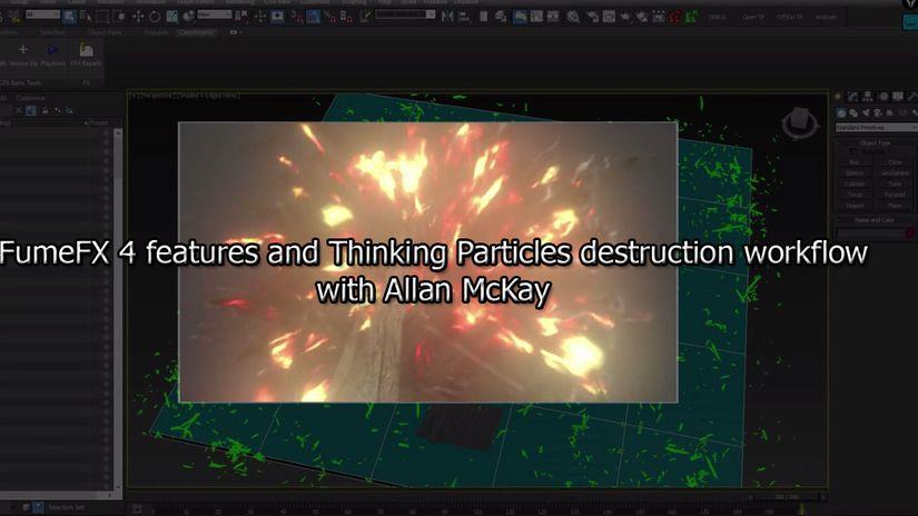 FumeFX 4 e Thinking Particles - tutorial free di Allan McKay