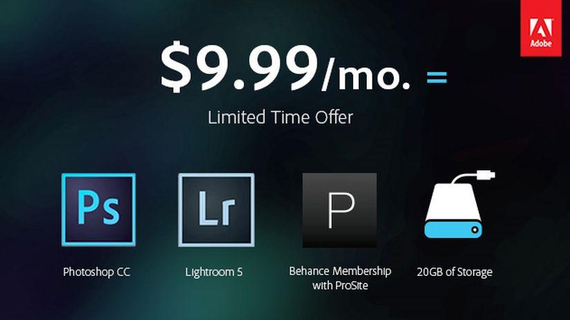 Adobe Photoshop abbonamento speciale