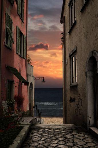 Tramonto sul mediterraneo