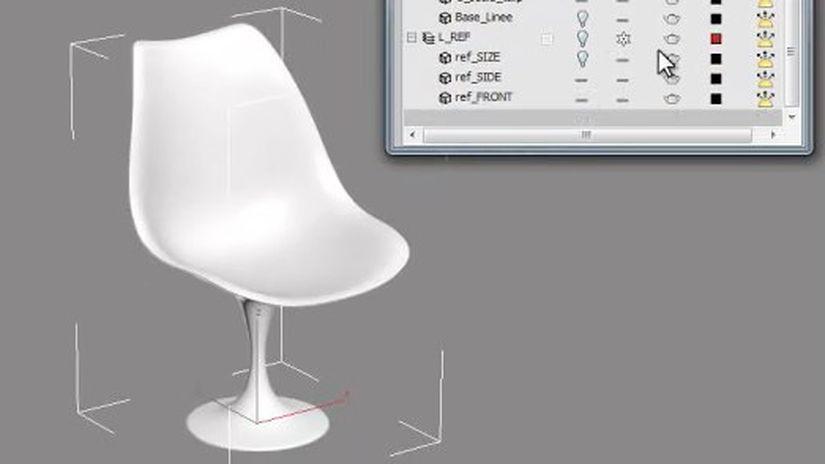 Modellazione della sedia Tulip