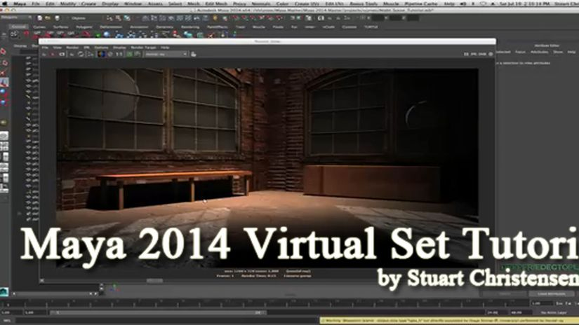 Creating a Virtual Set in Autodesk Maya