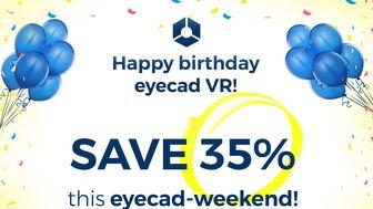 Eyecad VR: sconto del 35% per tutto il weekend