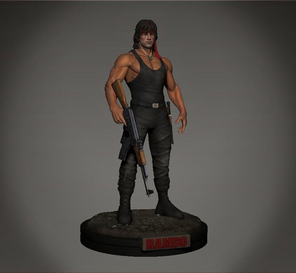 Rambo 3D Character