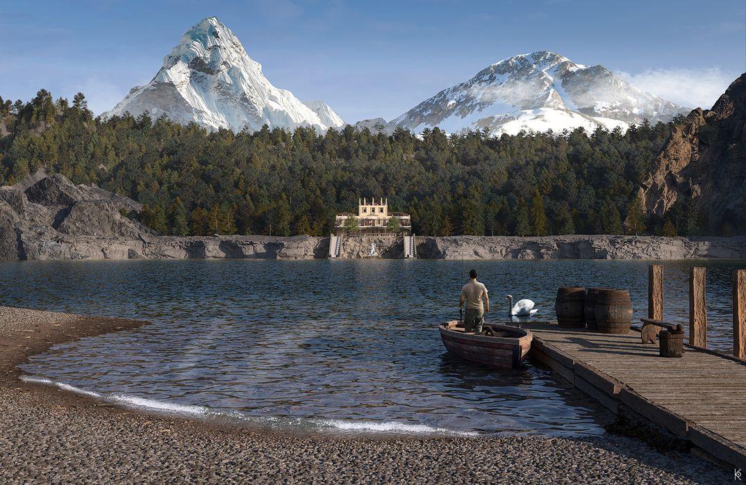 Hotel sulla riva del lago