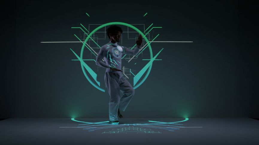 EXISDANCE - Real time tracking & Projection mapping