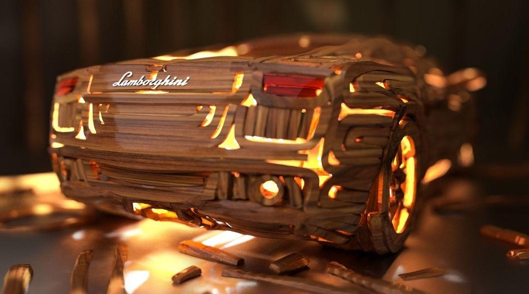 Wooden Lamborghini Crafting