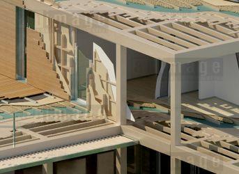 Casa in legno - Particolare struttura