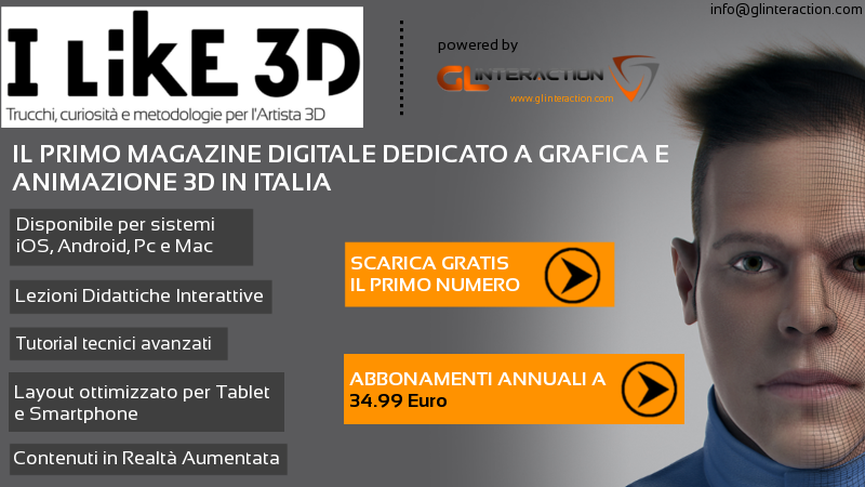 Disponibile il secondo numero di I Like 3D la prima rivista digitale interattiva!