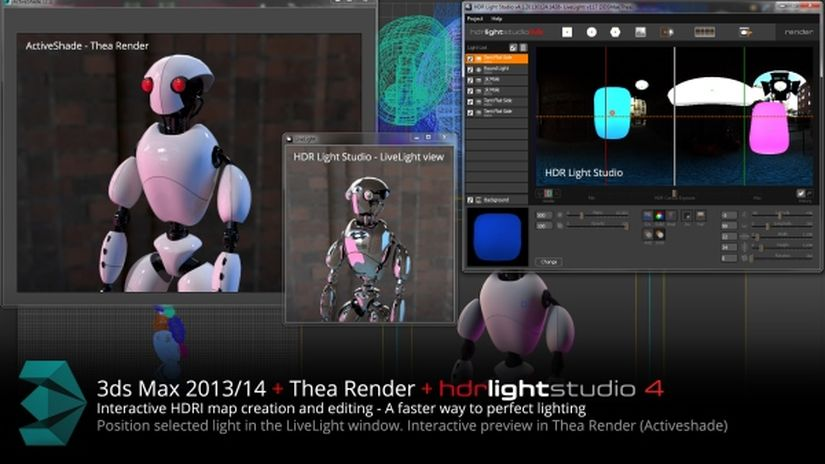 HDR Light Studio - Live connection per 3ds Max