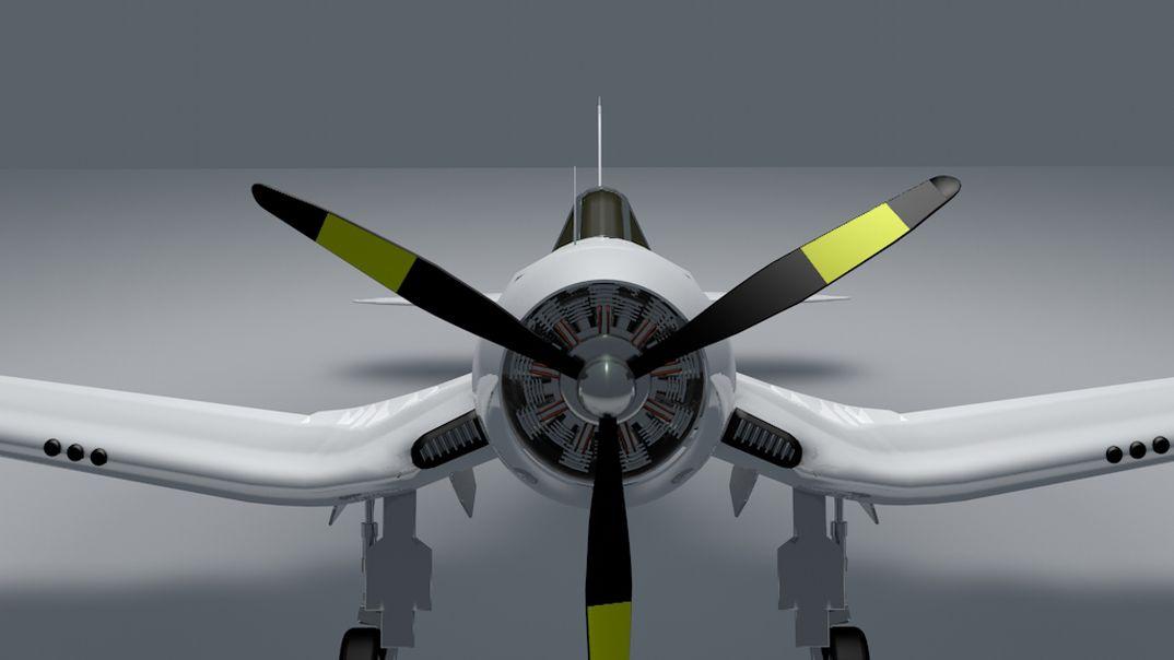 Vought F4 Corsair Red Bull skin