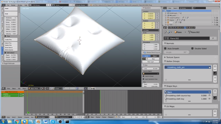 Modeling-Cloth per Blender: tool per modellare i tessuti