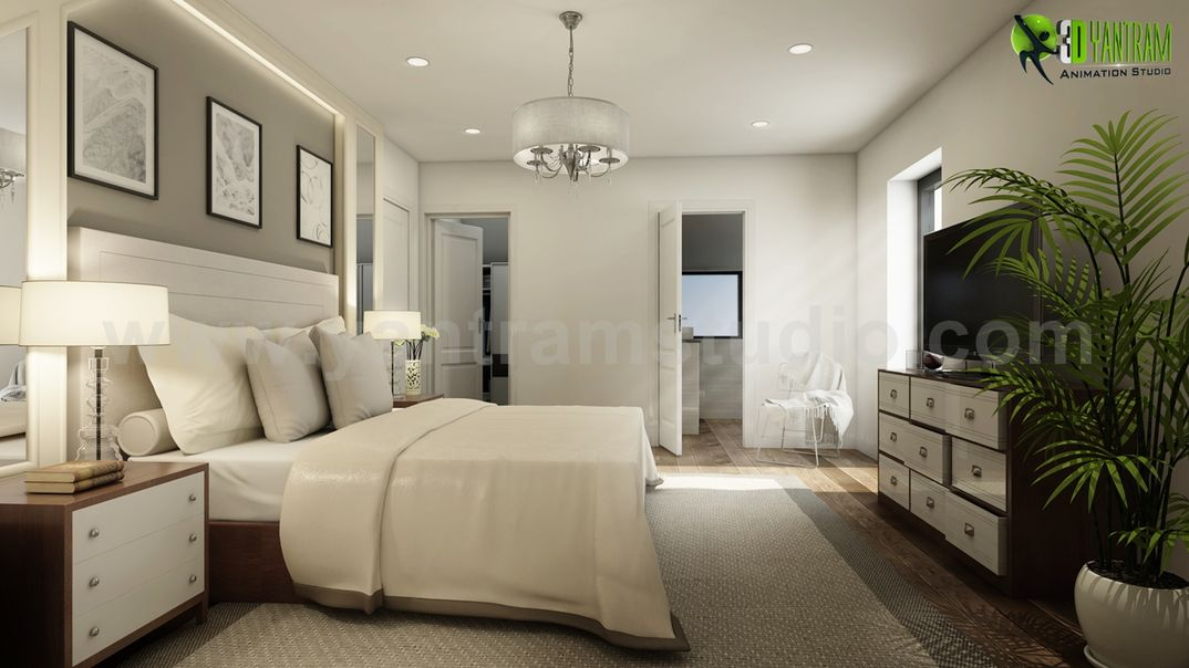 Modern Master Bedroom Ideas Developed By Yantram 3D Interior ...