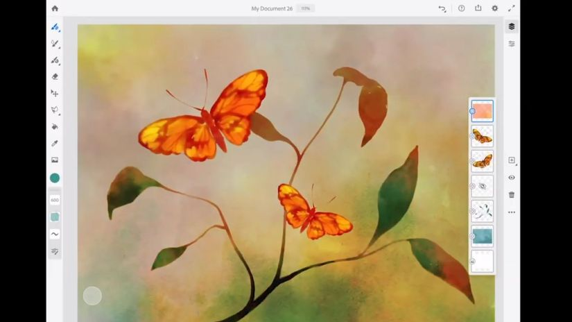 Adobe Fresco - nuova painter app tablet oriented, con AI