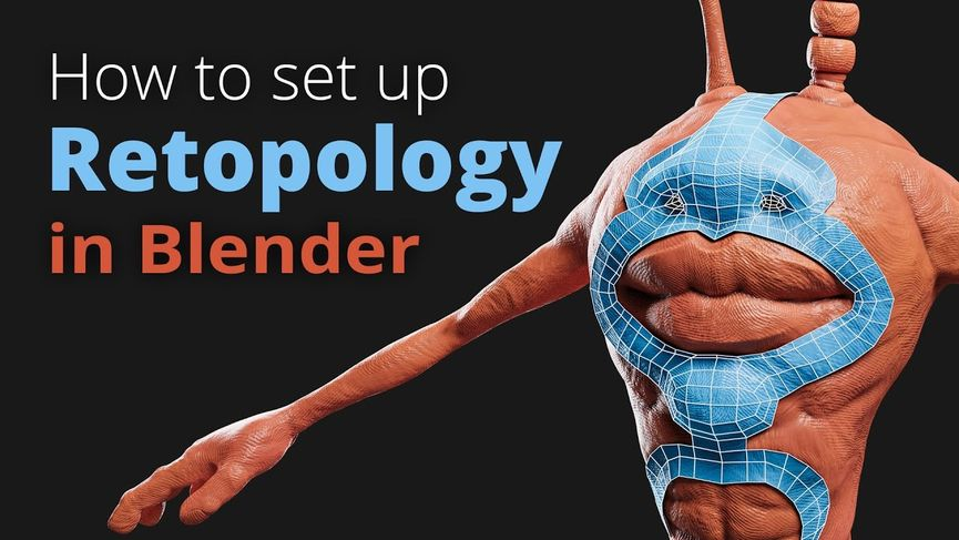 Impostare il retopology in Blender