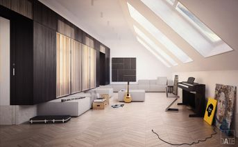 Musician's attic studio