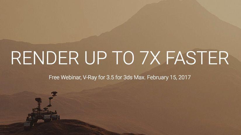 V-Ray 3.5 per 3ds Max: render fino a sette volte più veloci nel webinar ufficiale