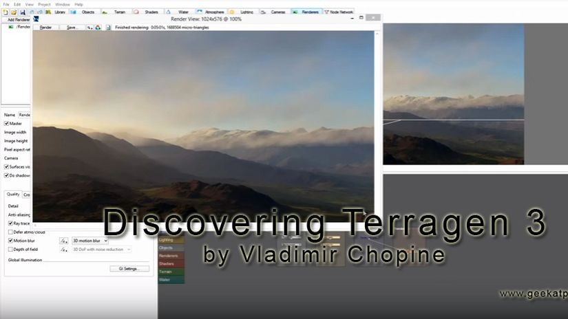Discovering Terragen 3