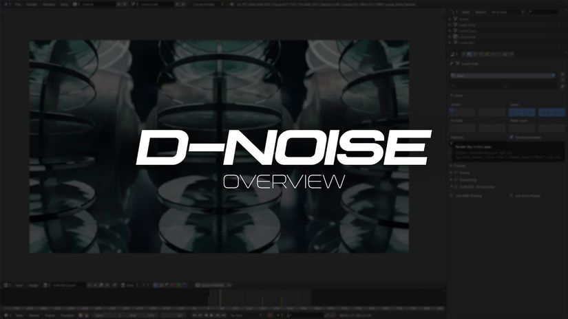 D-NOISE: free AI Accelerated Denoiser for Blender