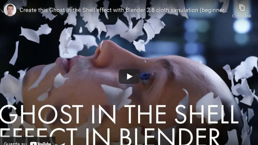 Ghost in the Shell effect with Blender 2.8 cloth simulation