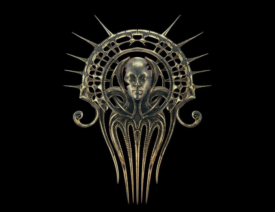 Fermacapelli ArtNouveau/Goth