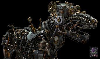Steampunk metal dog