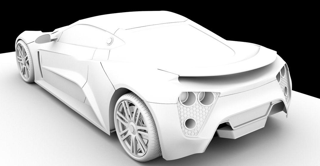 Zenvo ST1 - 3D modelling
