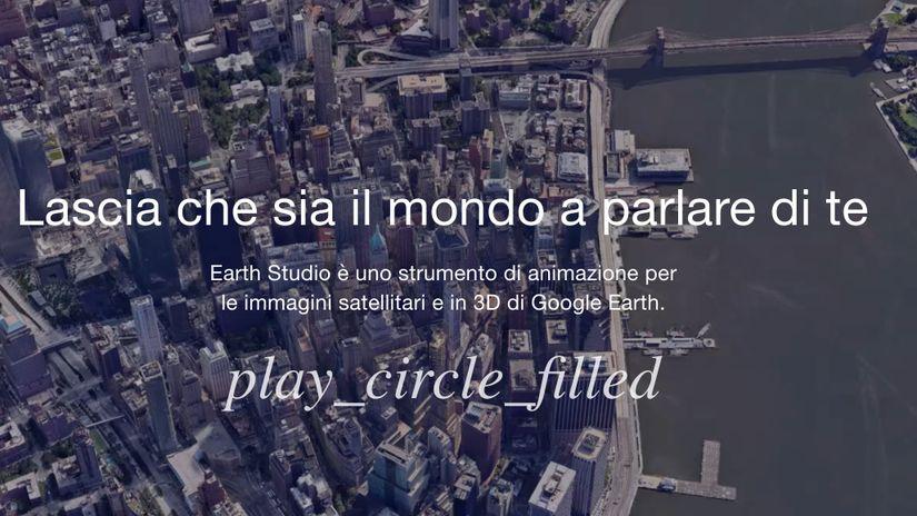 Google Earth Studio: animare il mondo con 2 click!